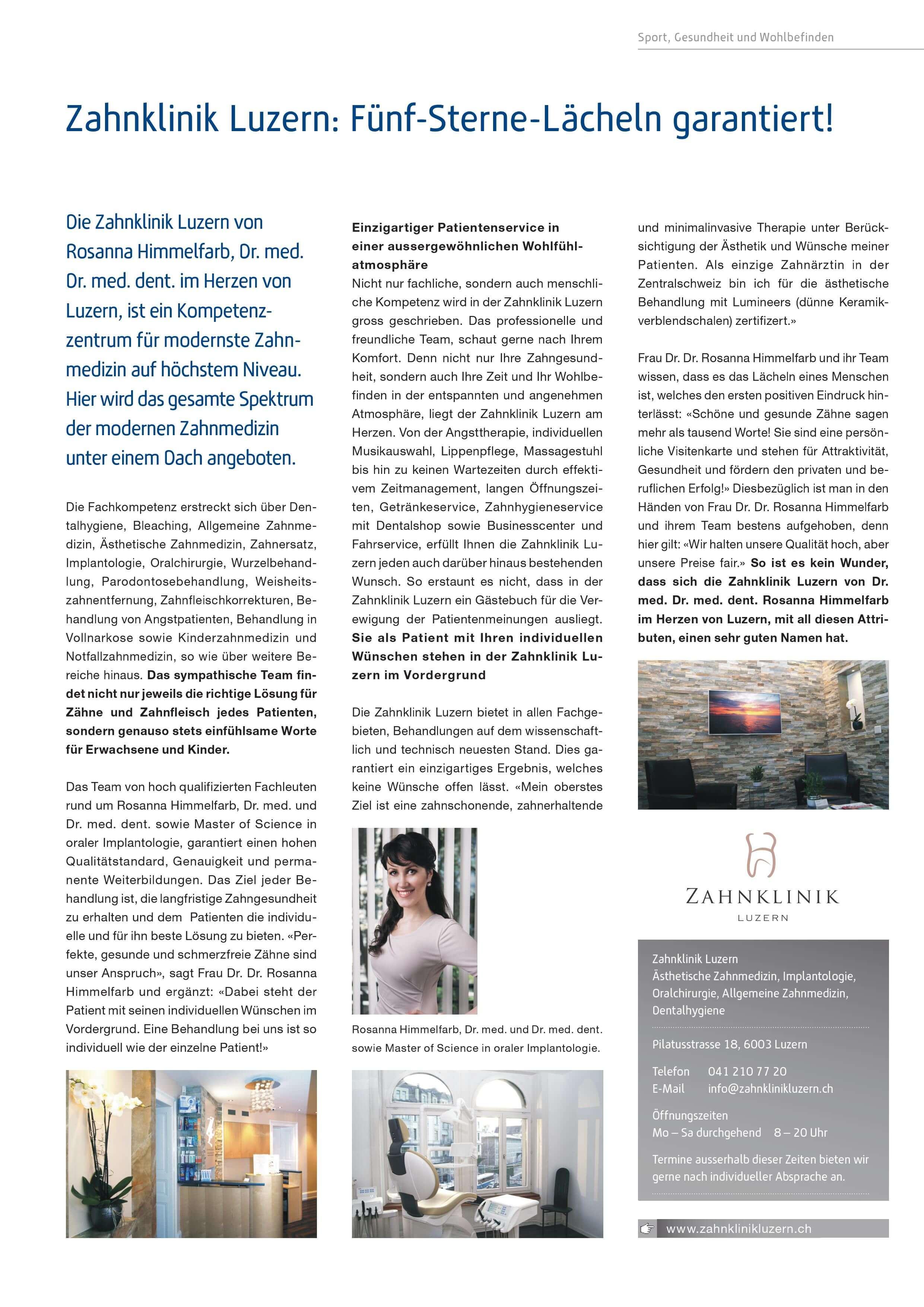 ▷Zahnarzt News - zahnarzt-luzern-zahnklinik.ch